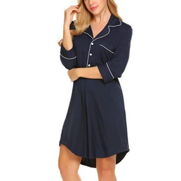 Bamboo Women's 3/4-Sleeve Nightshirt