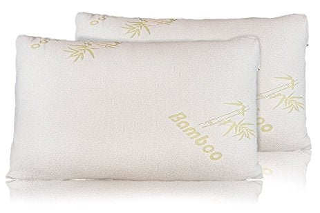 Bamboo Pillow - Advanced Shredded Memory Foam - TWIN PACK