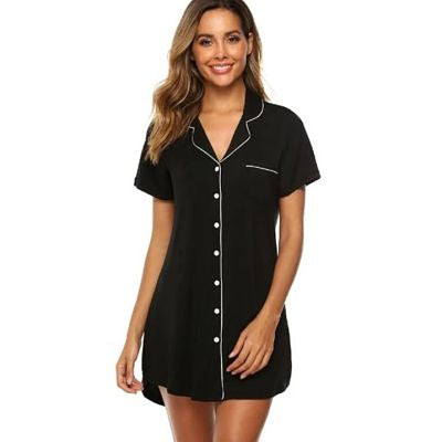 Bamboo Short Boyfriend Night Shirt