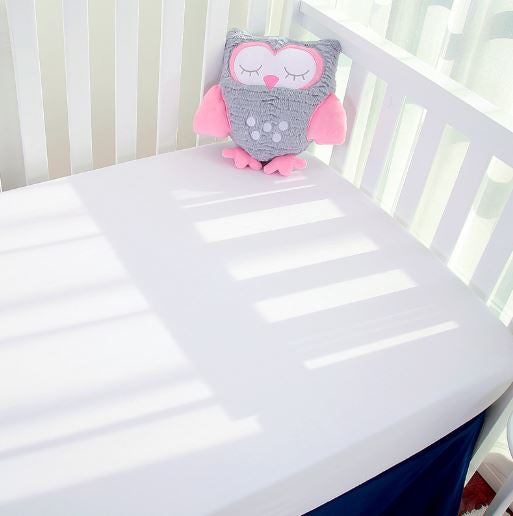 Bamboo Baby Cot Fitted Sheet - White