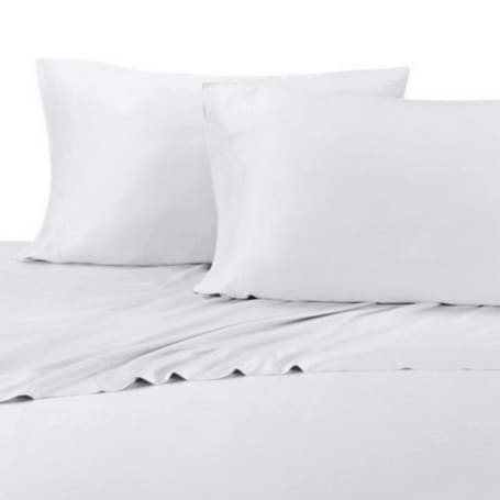 100% Organic Bamboo Sheet Set 400 TC  - White