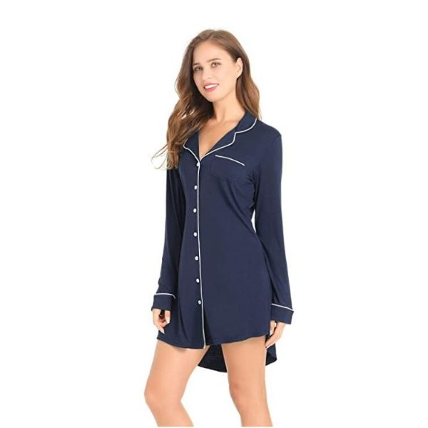 Bamboo Women's Long-Sleeve Nightshirt