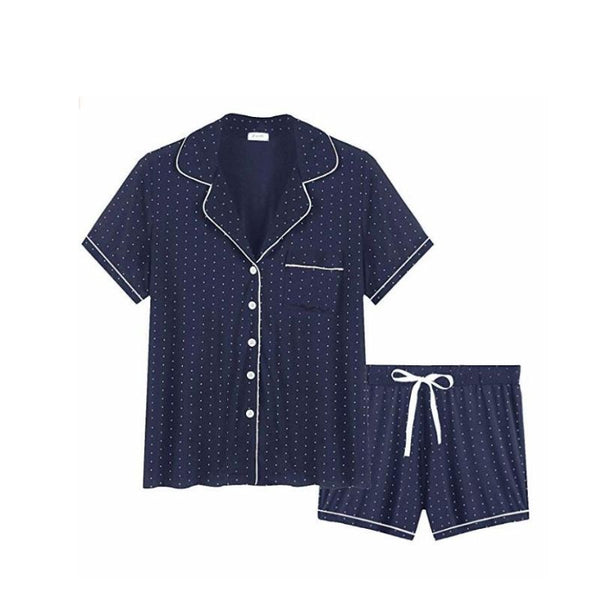 Polka Dot 2 Piece Pyjamas Short Set