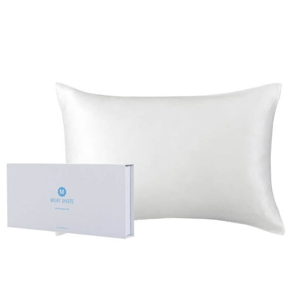 Pure Silk Pillowcase - Milky White