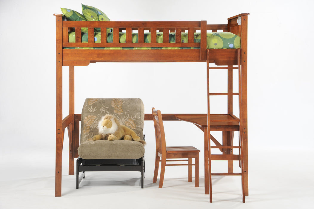 Ginger 100% Hardwood Loft Bunk Bed (Twin or Full)
