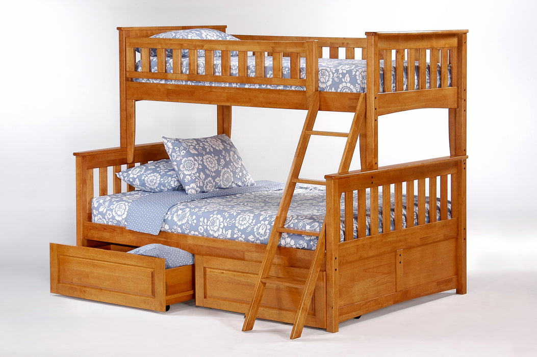 Ginger 100% Hardwood Twin over Full Bunk Bed