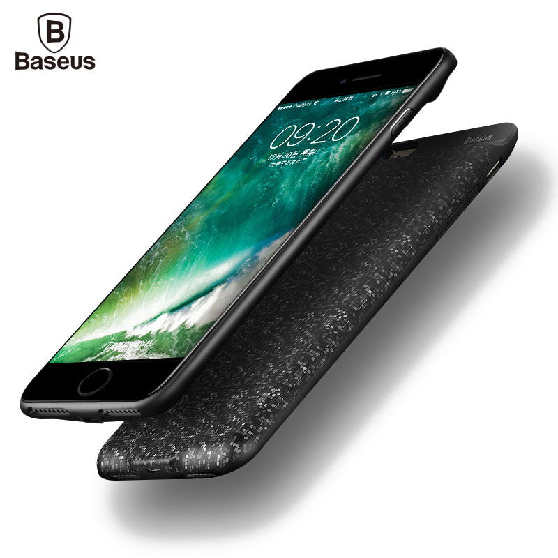 size 40 4b321 25438 Baseus Charger Case For iPhone 8 7 6 6s Plus 2500/3650mAh Power Bank Case  Ultra Slim External Backup Battery Charging Case Cover