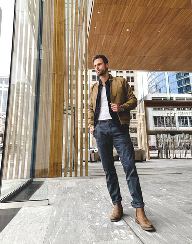 Casual Layering with Docker's Khakis – kncted