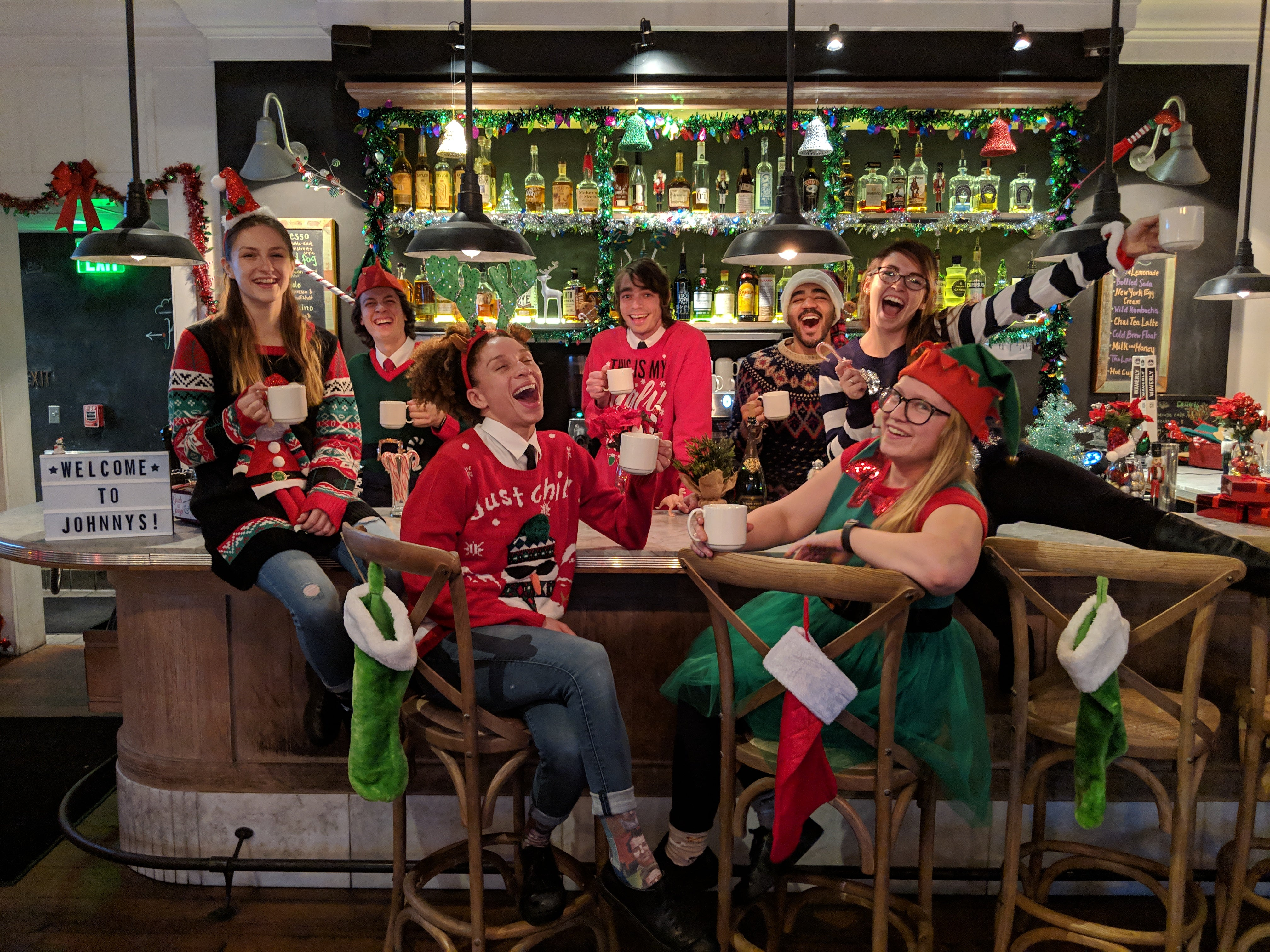 Christmas Party in Johnny's Christmas Bar