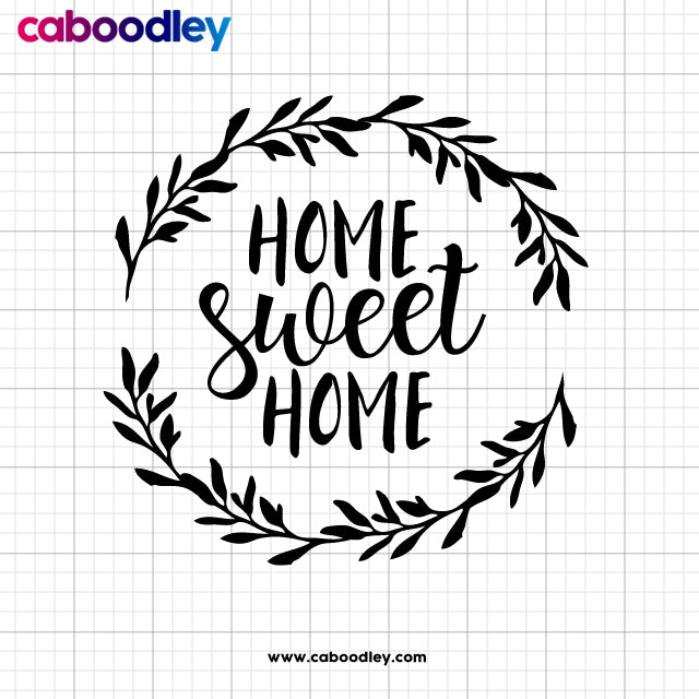 Home Sweet Home Svg Cut File, Dxf Cut File, Clipart, Printable, Instant Download - Oodles of Graphics