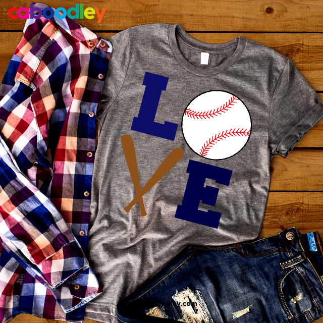 Love Baseball Svg Cut File, Dxf Cut File, Clipart, Printable, Instant Download