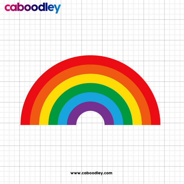Rainbow Svg Cut File, Dxf Cut File, Clipart, Printable, Instant Download