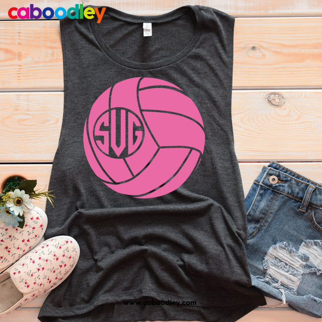 Volleyball Monogram Svg Svg Cut File, Dxf Cut File, Clipart, Printable, Instant Download