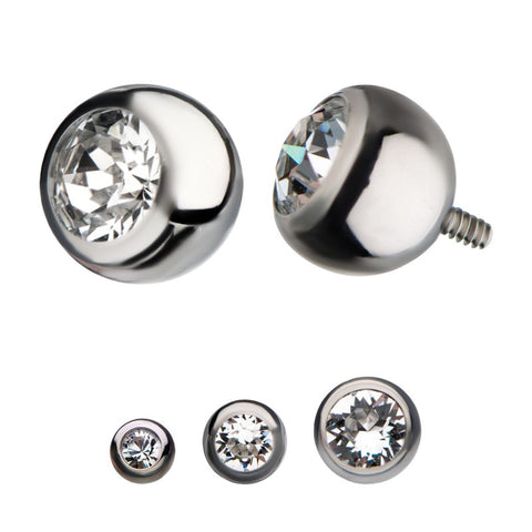 Bezel Set Swarovski Ball Top