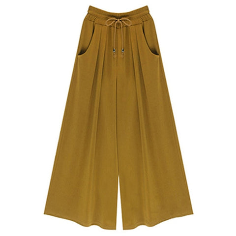 Image of Drawstring Wide Leg Pocket Pants