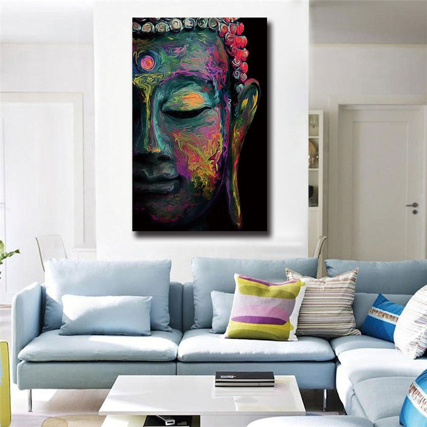 Buddha Canvas Painting Wall Art Poster