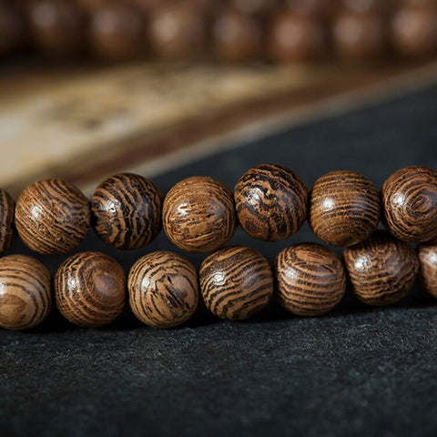 Image of Natural Wood Mala Bracelet
