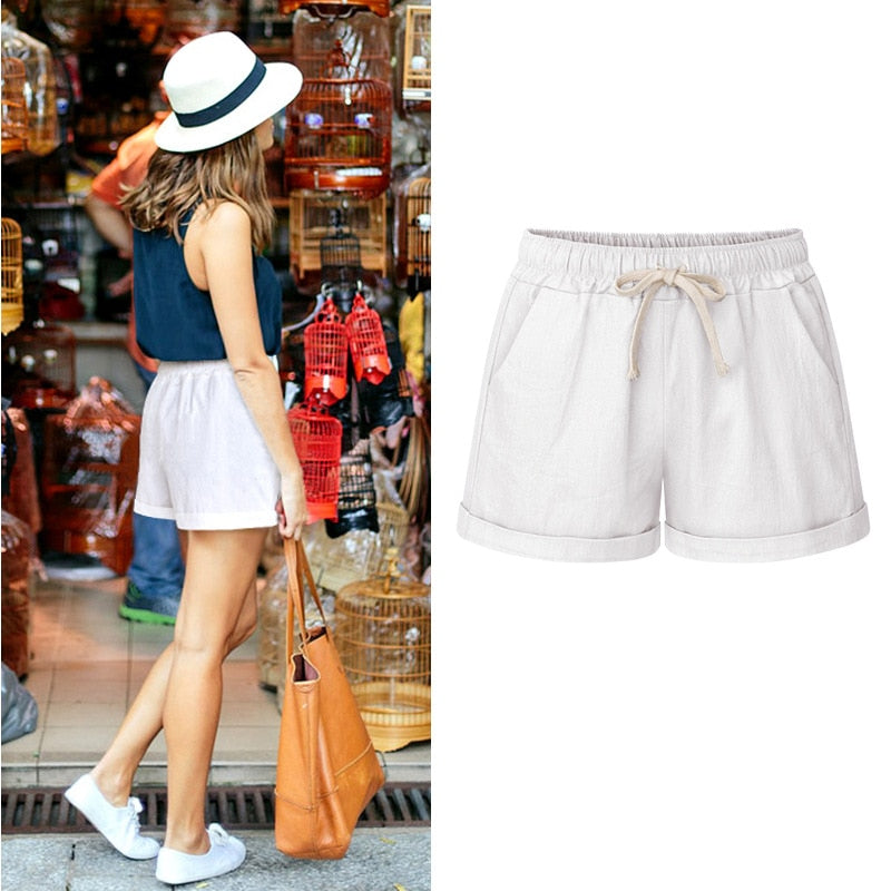 Drawstring Waistband Pocket Short Shorts