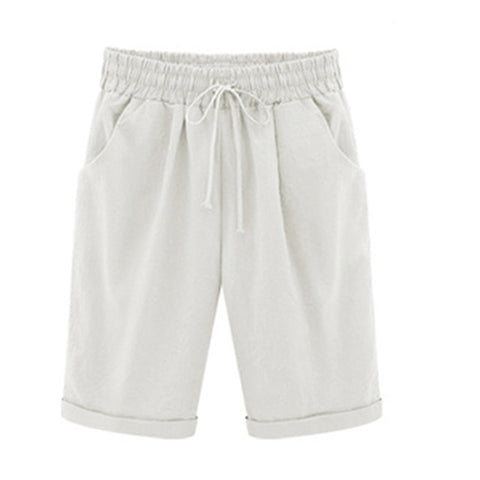 Image of Drawstring Elastic Waistband Pocket Shorts