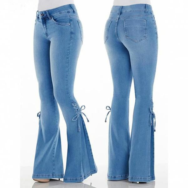 Bell Bottom Stretchy Jeans