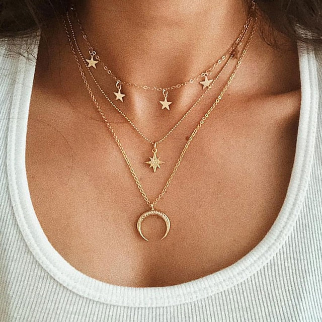 Bohemian Multi layer Pendant Necklaces