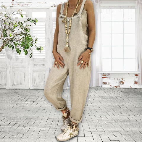 Image of Women Fashion Loose Jumpsuit