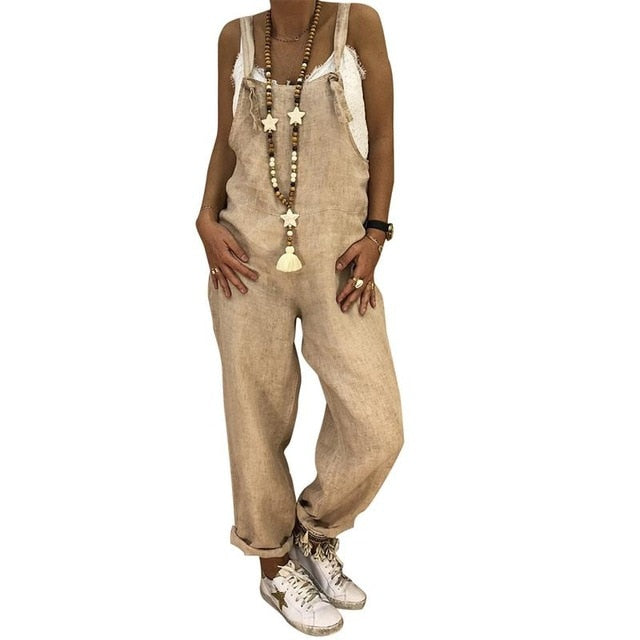 Women Fashion Loose Jumpsuit