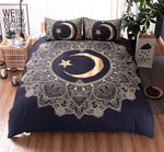 Gold Mandala Moon Bedding