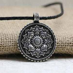 Spiritual OM Flower Necklace
