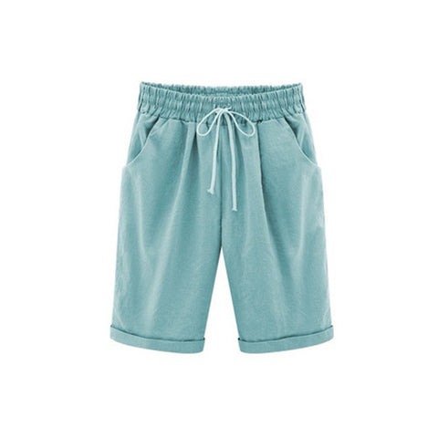 Drawstring Elastic Waistband Pocket Shorts