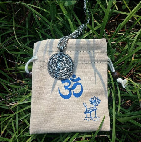 Image of Spiritual OM Flower Necklace