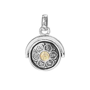 MANTRA ROTATING PENDANT-STERLING SILVER
