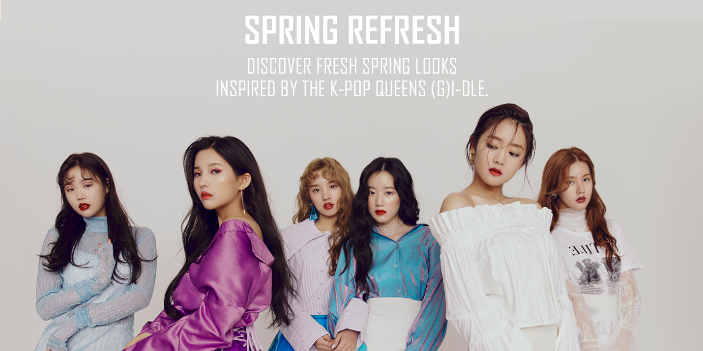 K-Ppp Group (G)i-dle in Spring inspired Kaja Makeup