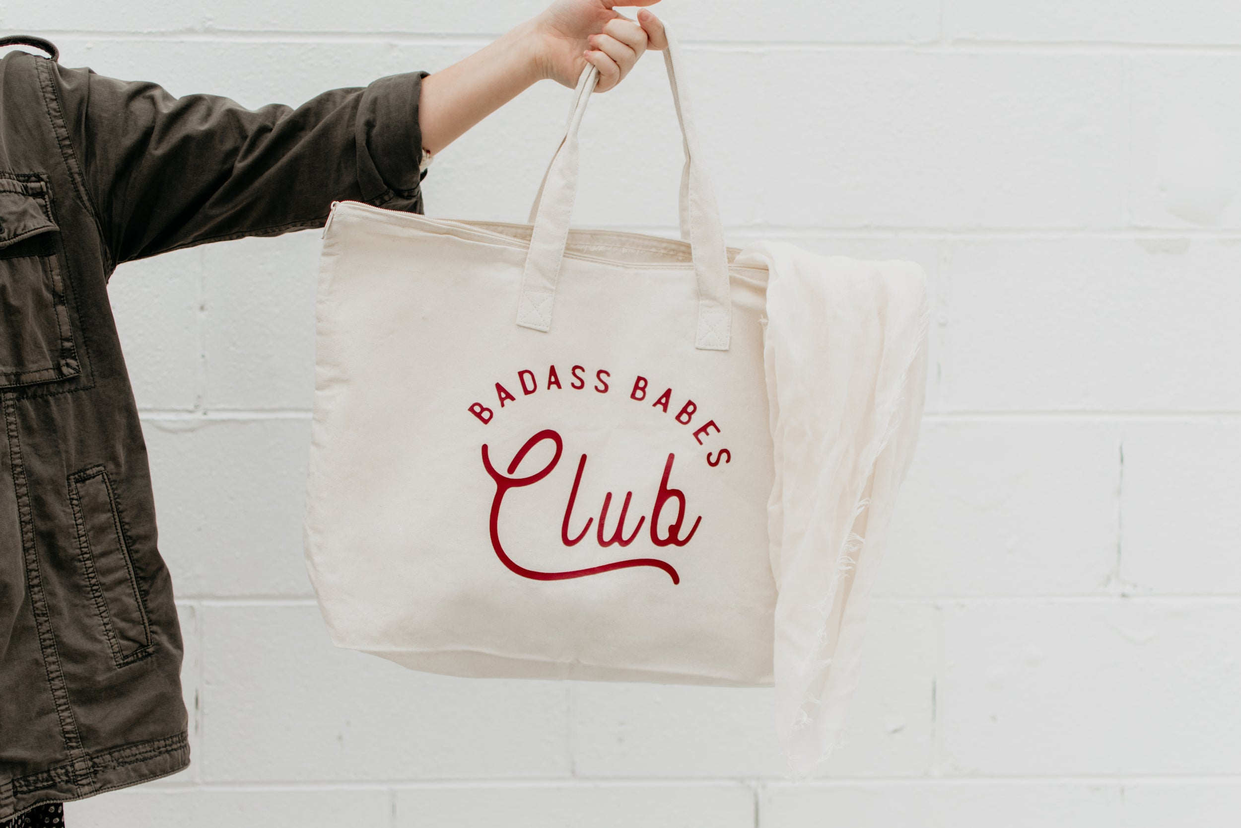 Badass Babes Club Large Canvas Tote Bag - Polished Prints