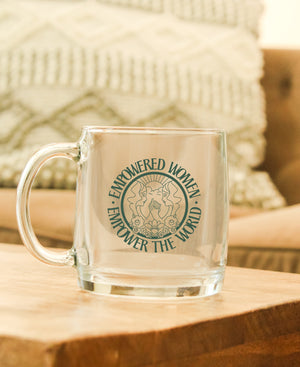 Empowered Women Empower The World 14oz Glass Mug - Polished Prints