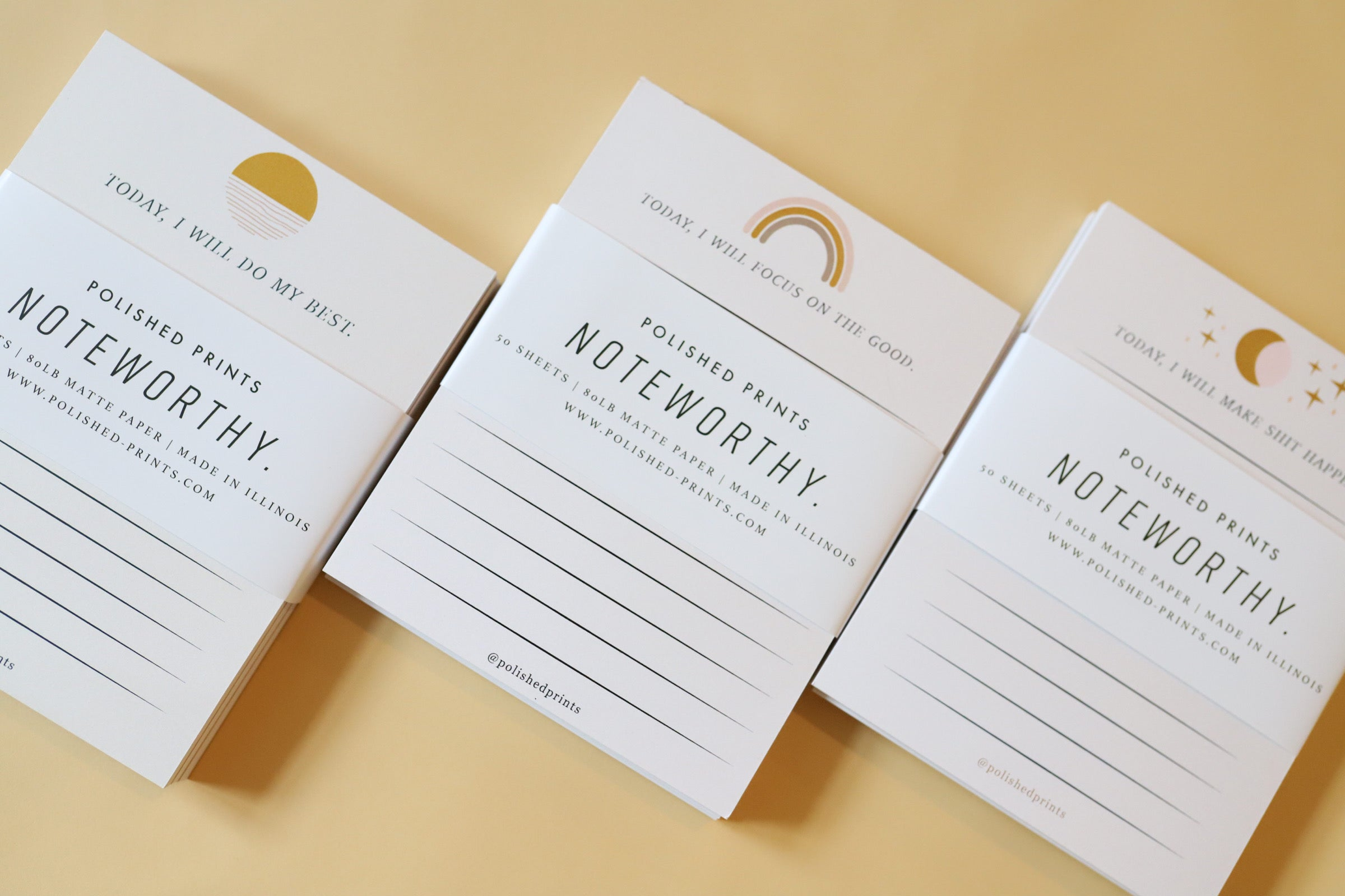 Affirmation Notepad Set - Polished Prints