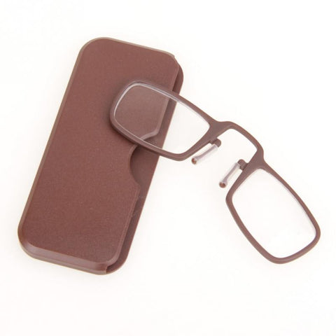 Thin Optic reading glasses with case