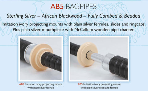 McCallum Highland Bagpipe - AB5 - Full Set