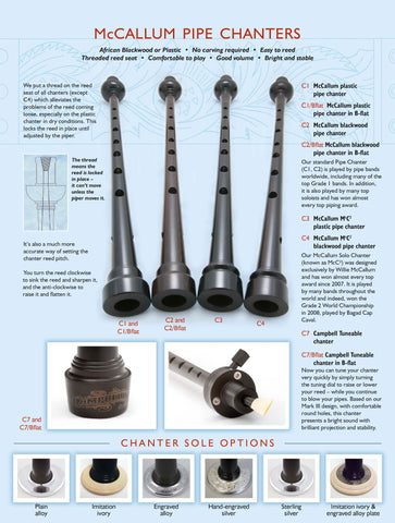 McCallum Blackwood Pipe Chanter