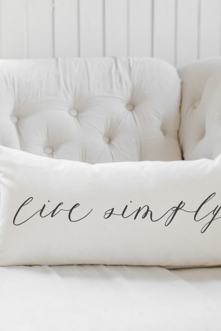Live Simply Lumbar Pillow