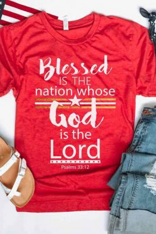 Blessed is the Nation Graphic Tee