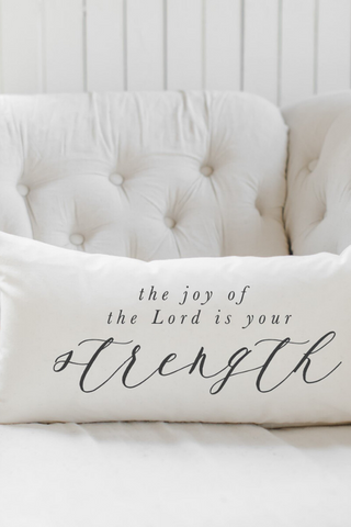 The Joy Of The Lord Is My Strength Lumbar Pillow