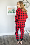 Red and Black Buffalo Plaid Lounge Set