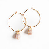 Bella Gemstone Earrings-Pink Opal