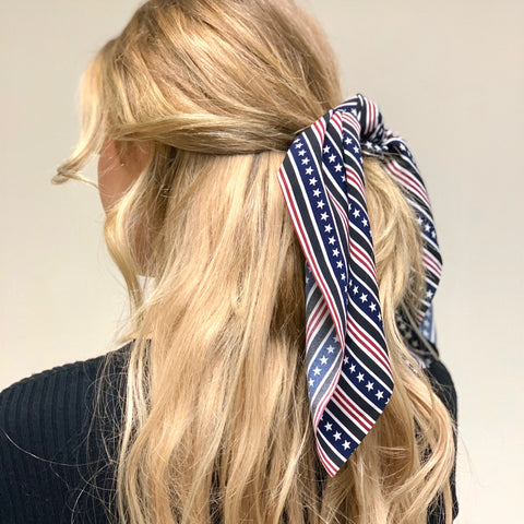 Hair Tie Scarf Scrunchie - Stars and Stripes