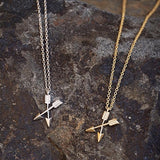 Crossing Arrows Necklace - gold or silver