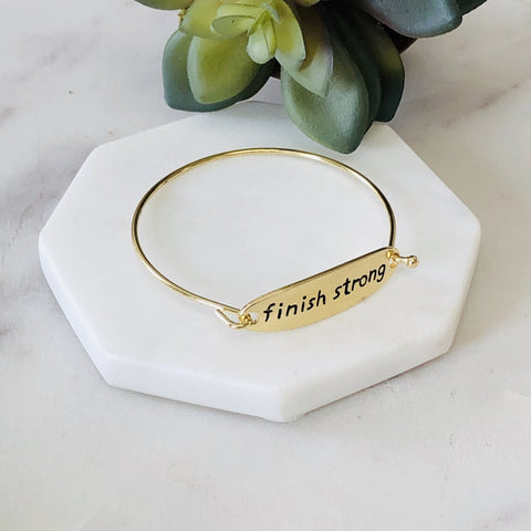 Finish Strong Bangle Bracelet - pretty-simple-2
