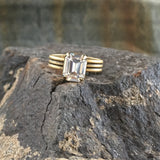 Clear Swarovski® Crystal Statement Ring - Gold