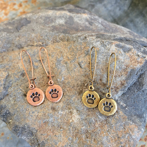 Paw Print Earrings • Dog Lover Jewelry