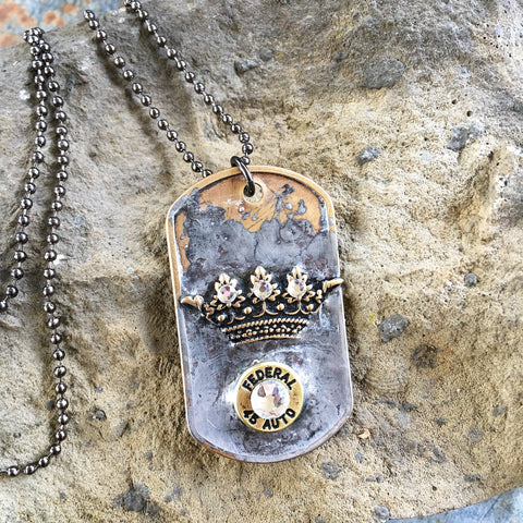 Queen Of The Range Dog Tag Necklace
